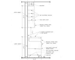 Kitchen wall cabinet section plumbing section kitchen for Kitchen cabinet section